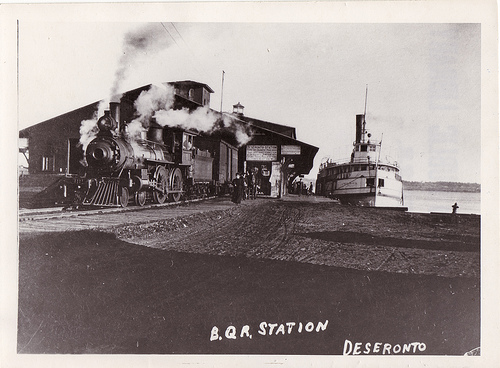 Steam wharf at Deseronto