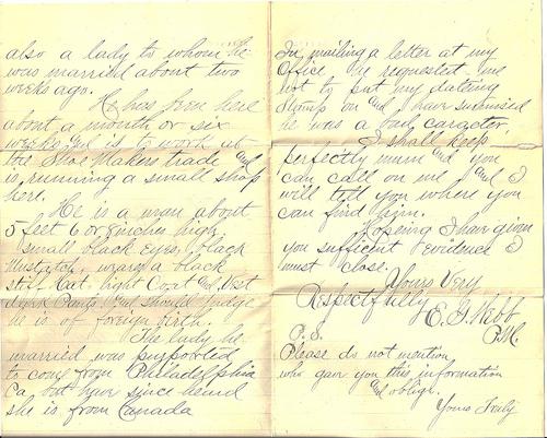Eugene Webb's letter