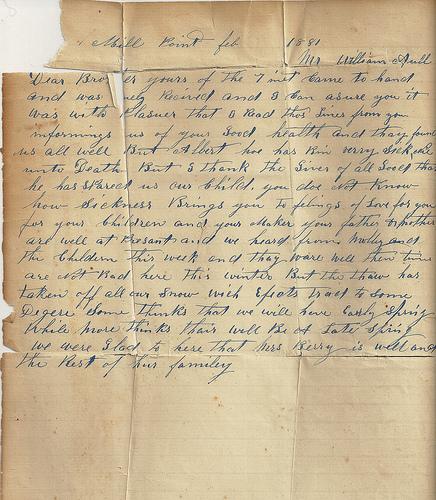 Sarah Jane Cronk's letter