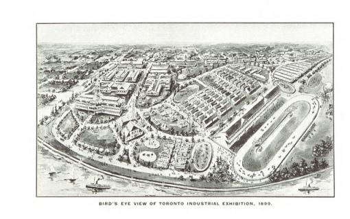 Bird's eye view of Toronto Industrial Exhibition, 1899