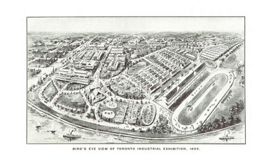Bird's eye view of Toronto Industrial Exhibition, 1899