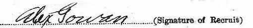 Alexander Gowan's signature