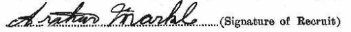 Arthur Markle's signature