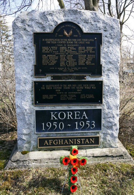 War memorial in Deseronto, April 2014