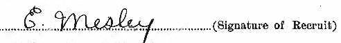 Ernest Mesley's signature