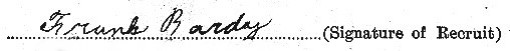 Frank Bardy's signature