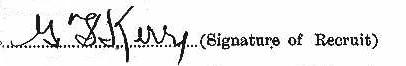 George Fraser Kerr's signature