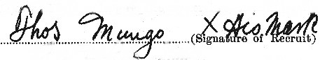 Thomas Mungo's signature