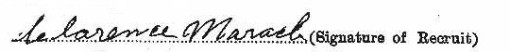 Clarence Maracle's signature