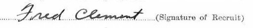 Fred Clement's signature