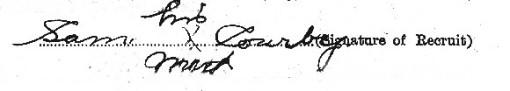 Sam Corby's signature
