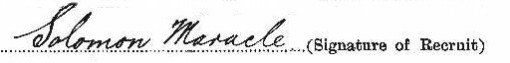 Solomon Maracle's signature