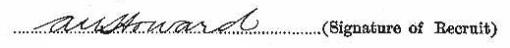 Arthur Howard's signature
