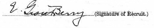 Earl Grant Berry's signature