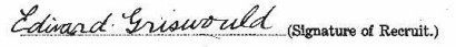 Edward Bissell's signature