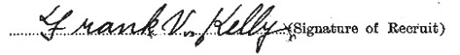 Francis Vincent Kelly's signature