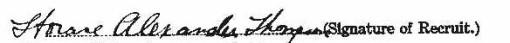 Horace Thompson's signature