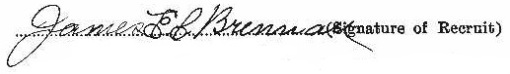 James Edward Clarence Brennan's signature