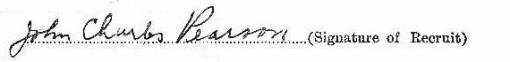 John Charles Pearson signature