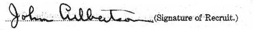 John Culbertson's signature