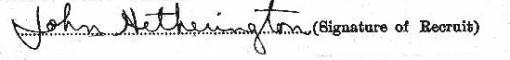 John Hetherington signature