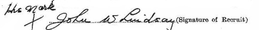 John Wesley Lindsay's signature