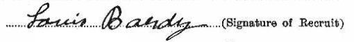 Louis Bardy's signature