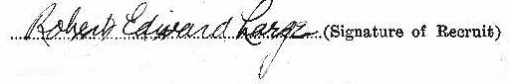 Robert Edward Large signature
