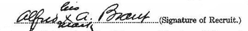 Alfred A. Brant signature