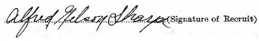 Alfred Nelson Sharpe signature