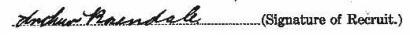 Arthur Rosendale's signature