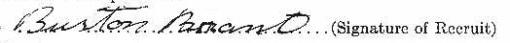 Burton Brant signature