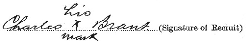 Charles Clinton Brant signature