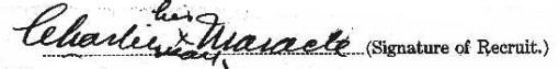 Charlie Maracle signature