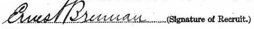 Ernest Brennan's signature
