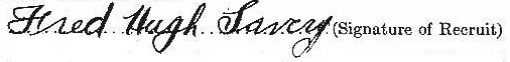Fred Hugh Lavery signature