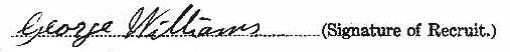 George Albert Williams signature