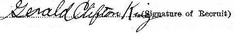 Gerald Clifton King signature