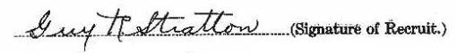 Guy Reginald Stratton signature