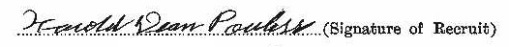 Harold Dean Powless signature