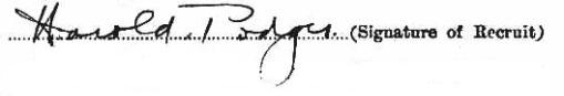 Harold Podger signature