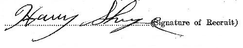 Harry Sharpe signature