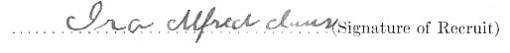 Ira Alfred Claus signature