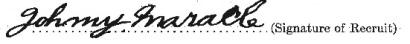 John Henry Maracle signature