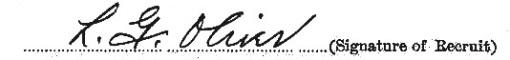Lorne Oliver signature