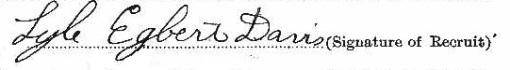 Lyle Davis signature