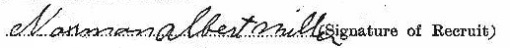 Norman Albert Miller signature