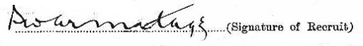 Percy Armitage signature