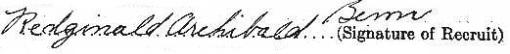 Redginald Archibald Benn signature