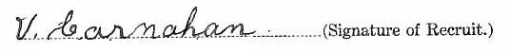 Vincent Carnahan's signature